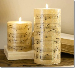 music candle
